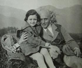 Rudolf Brüll mit Tochter Ilse