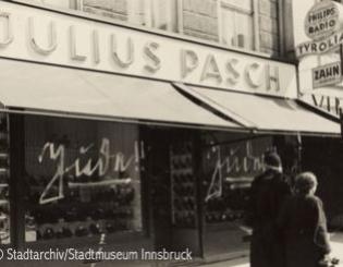 Schuhgeschäft Julius Pasch, Maria-Theresien-Strasse 13, 1938