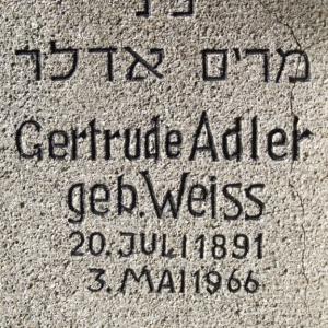 Jüdischer Friedhof Grabstein Adler