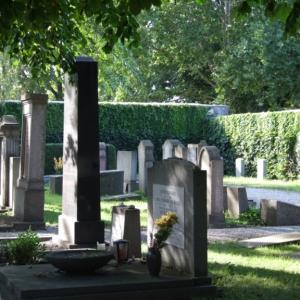 Jüdischer Friedhof Westansicht
